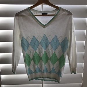 Burberry Sweaters - Burberry v neck argyle sweater